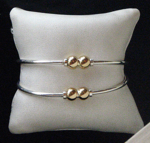Two Tone Double Ball Bracelet