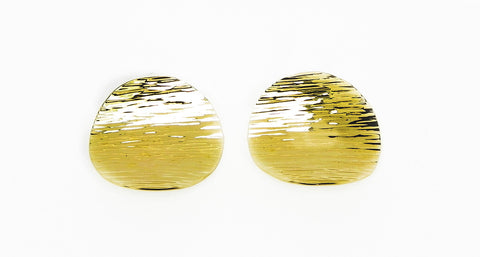Large Disk Gold Earrings