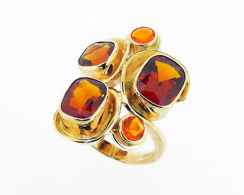 Rio Grande Citrine & Fire Opal Ring