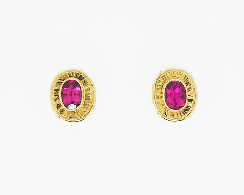 Rubellite Tourmaline Earrings