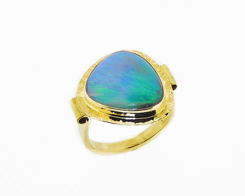 Semi-black Opal RIng