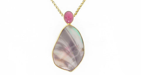 Tourmaline and Opal Pendant