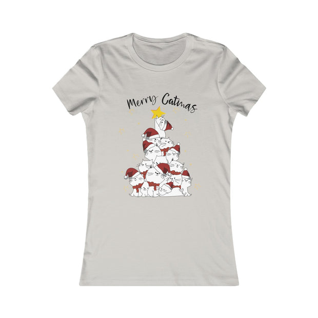 Merry Catmas Santa Cats Women's Tee