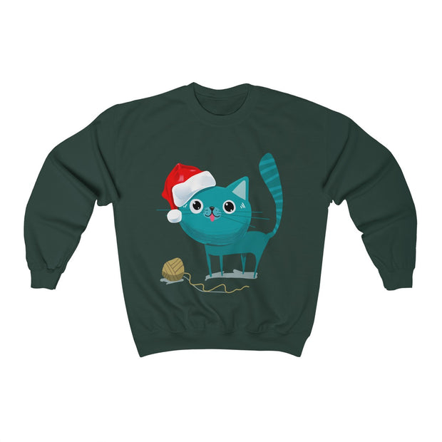 Cute Santa Cat Unisex Sweatshirt