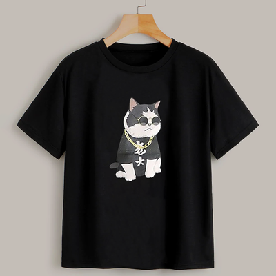Rapper Cat Men's Funny T-shirt