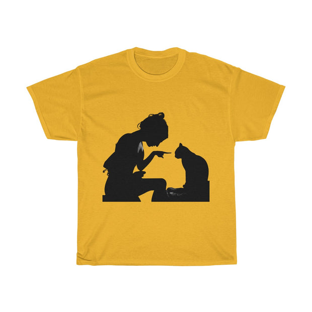 Cat In Trouble Unisex Heavy Cotton Tee