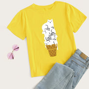 Cat Ice Cream Women's T-shirt
