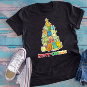 Colorful Merry Catmas Unisex T-Shirt