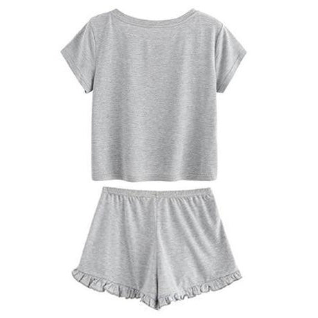 Sweet Cat Tee and Shorts PJ Set