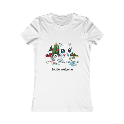 You're Welcome Funny Cat Women's Tee