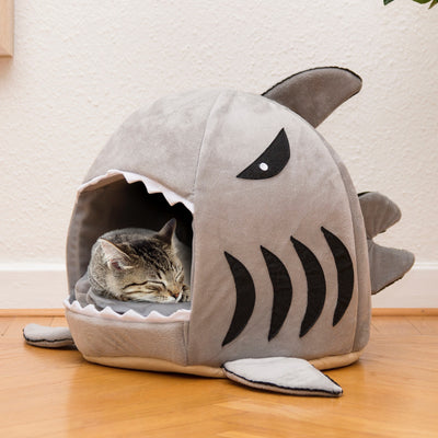 Super Soft Shark Cat Bed