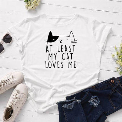 At Least My Cat Loves Me Women's T-shirt