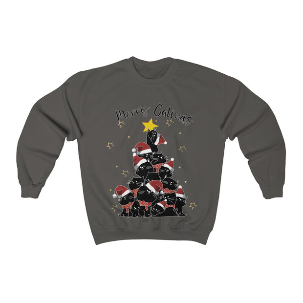 Merry Catmas Black Cats Unisex Sweatshirt