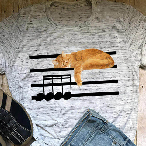 Music Loving Cat Women's T-shirt