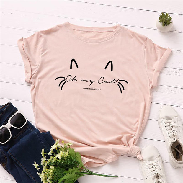 Oh My Cat Women's Cotton T-shirt