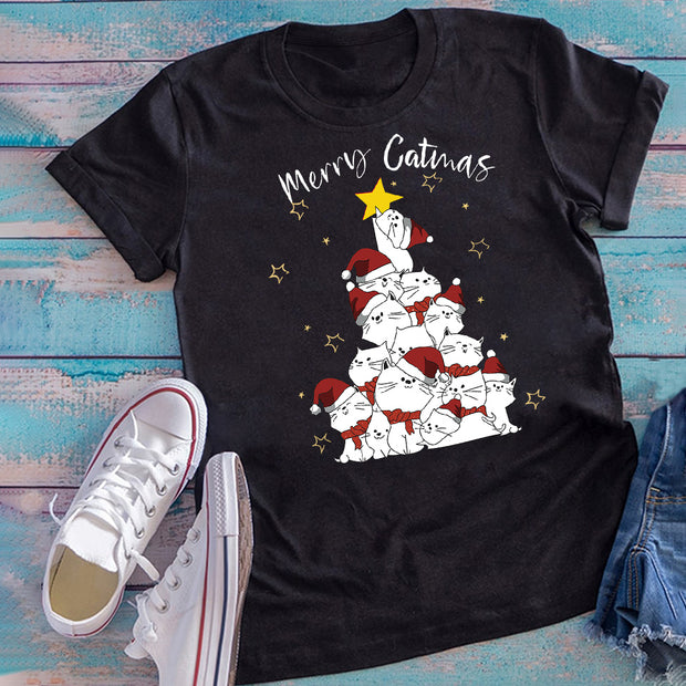 Merry Catmas Short-Sleeve Unisex T-Shirt