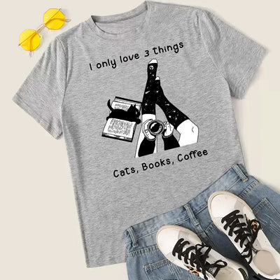 Cats Books Coffee Short-Sleeve Unisex T-Shirt