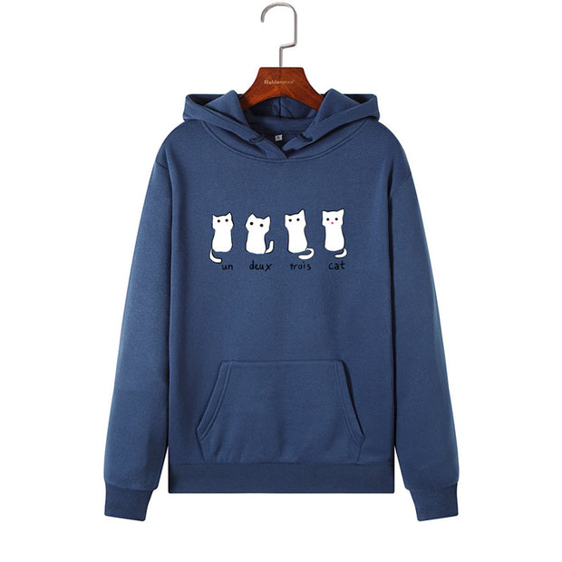 Lovely Four Cats Women's Hoodie
