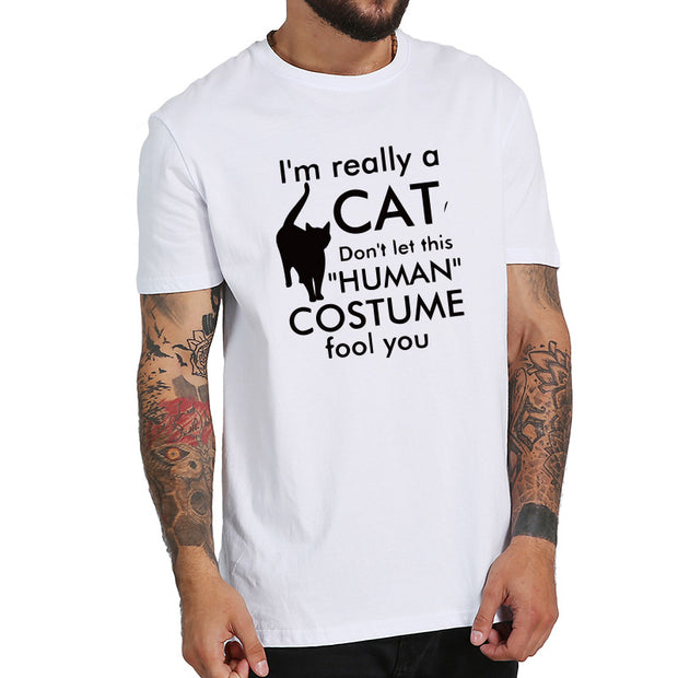 I'm Really A Cat Funny Men's T-Shirt