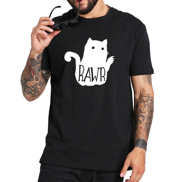 Rawr Cute Cat Men's T-Shirt