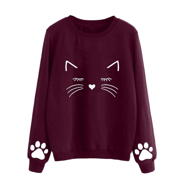 Sleeping Kitty Women's Sweater