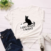 I Do What I Want Naughty Cat T-shirt