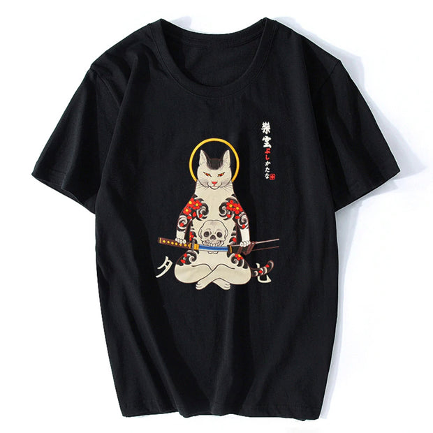 Samurai Cat Men's T-Shirt