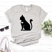 Cat with Heart Lovely Women's T-Shirt