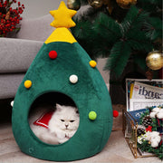 Christmas Tree Warm Cat Cave