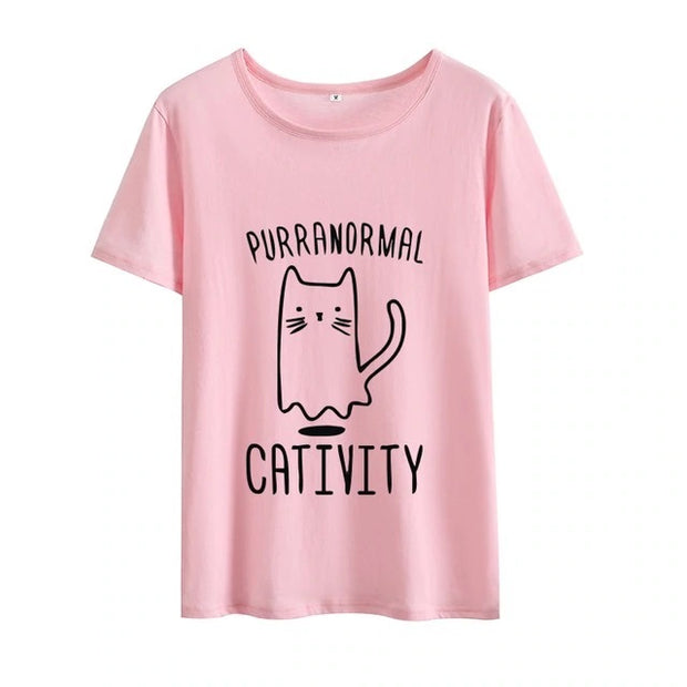 Purranormal Cativity Funny Women's T-shirt