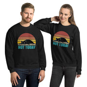Vintage Style Not Today Cat Unisex Sweatshirt