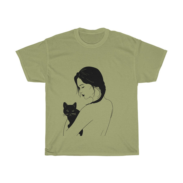 Cats Are A Girl's Best Friend Unisex Cotton Tee