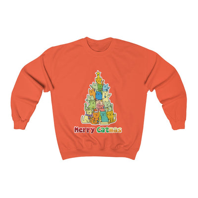 Colorful Merry Catmas Unisex Sweatshirt