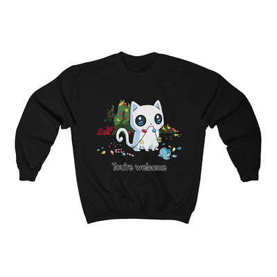 You're Welcome Funny Cat Unisex Sweatshirt