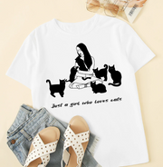Just A Girl Who Loves Cats Unisex Cotton T-Shirt