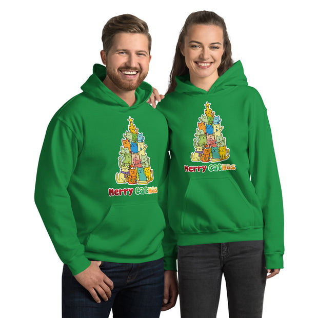 Colorful Merry Catmas Unisex Hoodie
