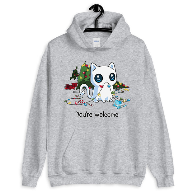 You're Welcome Funny Cat Unisex Hoodie