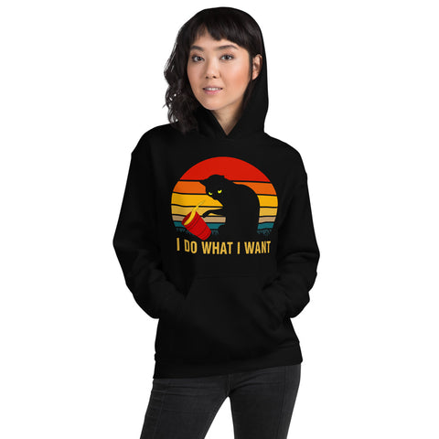 I Do What I Want Cat Unisex Hoodie