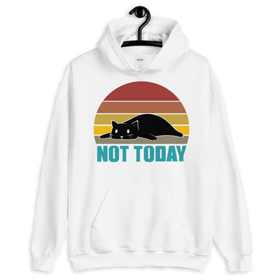 Vintage Design Not Today Lazy Cat Unisex Hoodie
