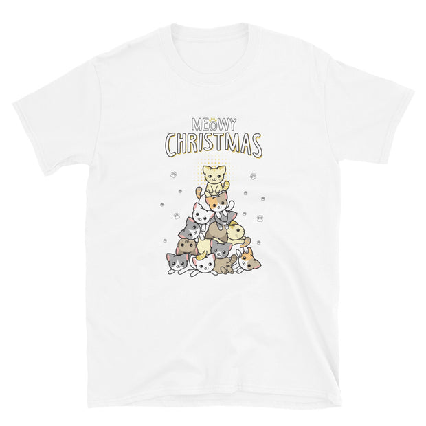 Meowy Christmas Short-Sleeve Unisex T-Shirt
