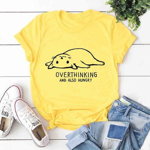 Overthinking Cat Women's T-shirt