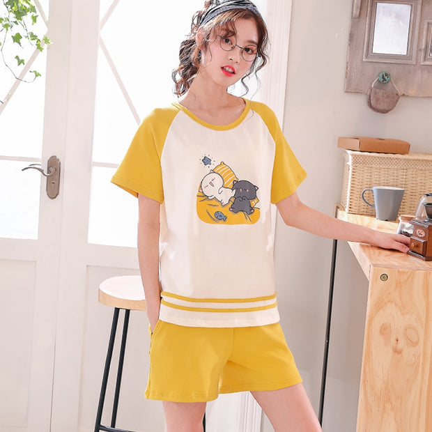 Sleepy Kitties Women's Pyjamas Set