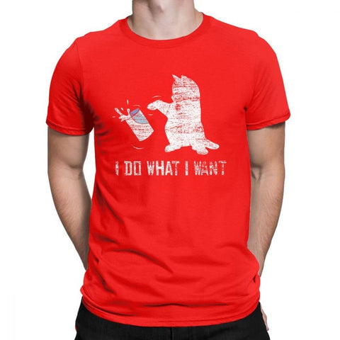 Colorful I Do What I Want Cat Men's T-Shirt