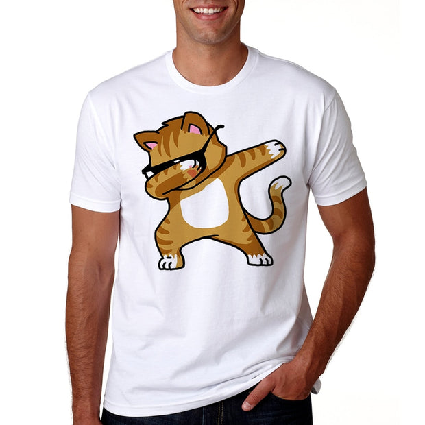 Dabbing Cat Men's T-Shirt