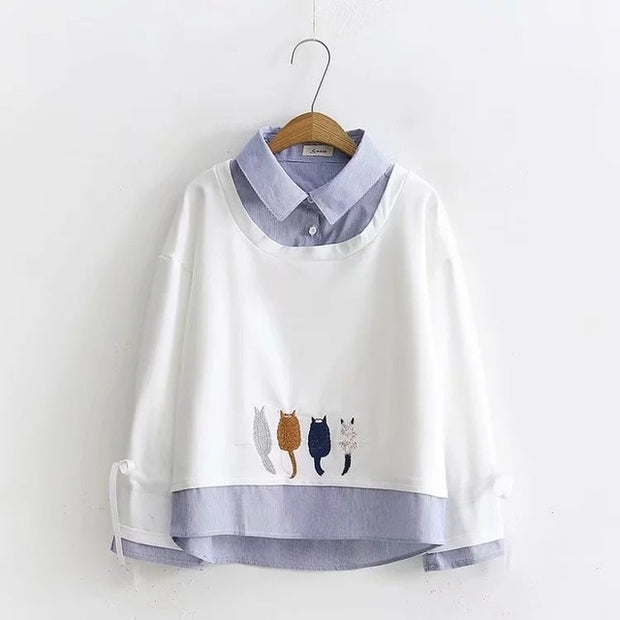 Four Little Cats Women's Blouse