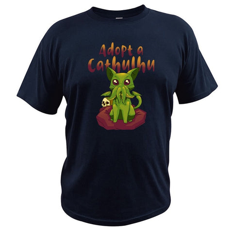 Adopt A Cathulhu Funny Men's T-Shirt