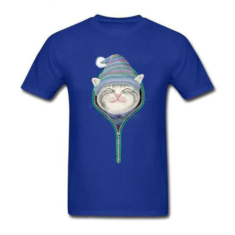 Cat In The Zip Funny Unisex T-Shirt