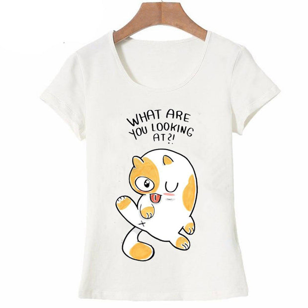 What Are You Looking At Funny Cat Women's T-Shirt