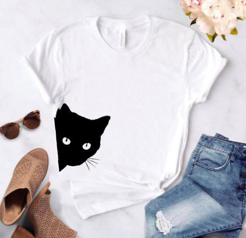 Curious Cat Women's Cotton T-shirt