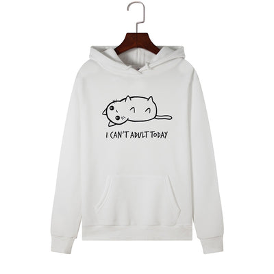 I Can't Adult Today Lazy Cat Unisex Hoodie